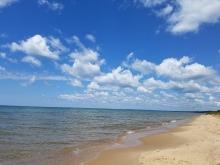 Beach of lake Michigan
