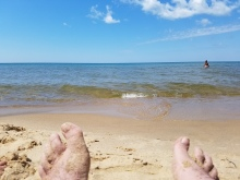Lake Michigan-Mike's feet