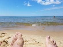 Lake Michigan-Mike's feet