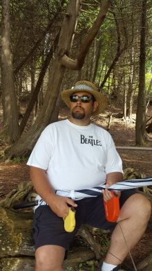 Mike in the tree grove