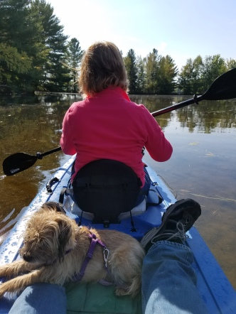 "Kayaking the ""Beaver Pond""."